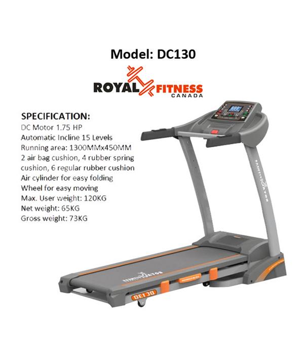 Royal Fitness Treadmill 2.00 HP DC 130